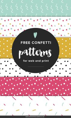 Free confetti patterns for your blog background or your print projects! Click…