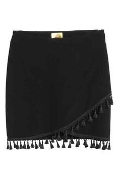 Wrap skirt with tassels