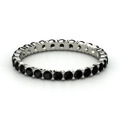 Amazing for a wedding band! Would fulfill my black diamond obsession!