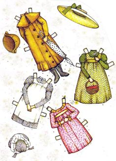 Holly Hobbie paper dolls. I had these!!                                                                                                                                                                                 More