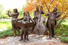 'Joy of Music' - sculpture by George Lundeen;  public artwork in Loveland, CO