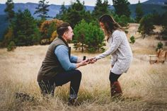 This mountain photoshoot proposal is amazing, and her reaction is just precious.
