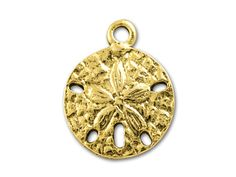 Antique Gold Sand Dollar Charm
