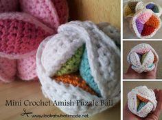 I love this Mini Crochet Amish Puzzle Ball - free pattern.