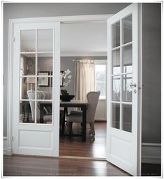 Looking for new trending french door ideas? Find 100 pictures of the very best french door ideas from top designers. Internal French Doors, Double French Doors, Glass French Doors, French Windows, Glass Doors, Glass Office Doors, Double Window, Double Doors Interior, Interior Barn Doors
