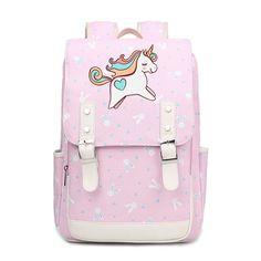 personalized backpacks for elementary school Unicorn Hair, Cute Unicorn, Unicorn Party, Unicorn Clothes, Unicorn Dress, Unicorn Fashion, School Backpacks, School Bags, Kids