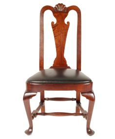 american period queen anne furniture | 04 queen anne side chair this chair has a balloon seat and carved ...