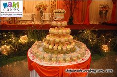 Nat's Wedding - The Wedding Cupcake by *Yulia*, via Flickr  Her creation always cute :)
