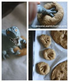 "Create ""dinosaur fossils"" with this DIY tutorial. Fun activity for a Good Dinosaur birthday party!"