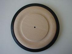Holzrad mit Gummibereifung Ø 150mm Buchenholz Holzräder Gummireifen Basteln