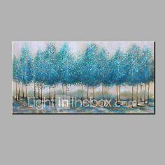 Pintados à mão Abstrato Horizontal,Moderno 1 Painel Tela Pintura a Óleo For Decoração para casa de 5662373 2017 por €45.34