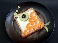 Open-Face Fish Shaped Sandwich