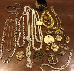 Vintage To Now Faux Pearl, Rhinestone, Goldtone Jewelry Lot...Avon..#2 #Avon
