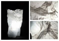 TRANSPARENT PAPER: folded lamp made out of fifteen 20 cm x 20 cm squares Making Out, Squares, Paper, Bobs