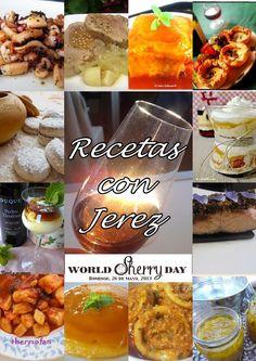 Recopilación de recetas elaboradas con Vino de Jerez, con motivo de la celebración del World Sherry Day