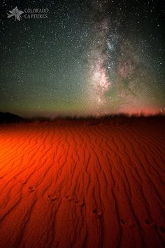 ~~Hand Painted Mystery Under The Stars ~ night scape of the Milky Way, Sand Dunes National Park, Alamosa, Colorado by Mike Berenson - Colorado Captures~~