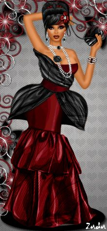 Couture beauty at Diva Chix! Check out this lovely diva, spotted throwing a dramatic catwalk pose in an equally dramatic couture inspired, tiered, ruffled and layered gown, and we love the colour scheme too! Unique and ready for any catwalk, this diva is fierce and knows how to work it.