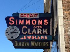 One of my very favorite signs! Bulova Watches, Detroit, Broadway Shows, Signs, Shop Signs, Sign, Dishes