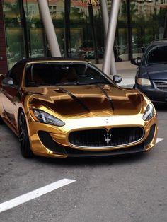 Only in Miami... #cars #miami #gold
