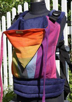 ed4d492cd48 Wompat Baby Carrier Earthy Rainbow Rainbow Baby