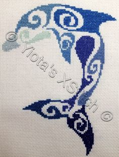 Dolphin free cross stitch pattern