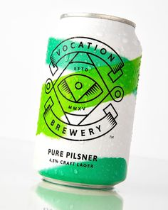 Packaging for Vocation Brewery Craft Lager by Robot Food