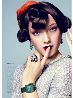 visual optimism; fashion editorials, shows, campaigns & more!: watch me get festive: yumi lambert by antonin guidicci for vogue japan august 2013