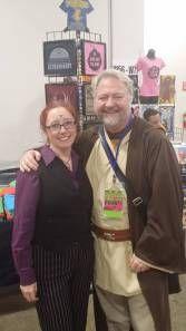 Myself as Cecil Baldwin, with my friend JT as Obi Wan at Boston Comic Con.