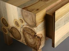 Beautiful Live Edge Wood Furniture. It is so lovely seeing the wood on the side of the table.