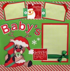 baby girls first christmas scrapbooking ideas | Baby Scrapbook Pages First...