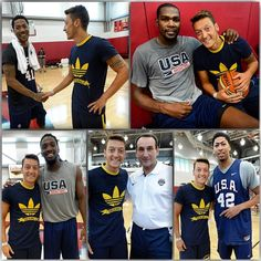 2014 #WorldCup champ @m10_official of @arsenal stopped by @usabasketball practice today!