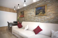 Travertine, Slate, Granite, Natural Stones, Room Decor, Couch, Living Room, Projects, Inspiration