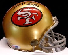 cac29b659 Jerry Rice Autographed Hand Signed SF Mini Helmet    PSA DNA - of fame  memorabilia fabric ticket