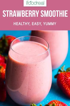 Healthy Strawberry Smoothie Recipe with frozen strawberry almond milk banana and a secret ingredient for a nutrition punch. Healthy Strawberry Smoothie Recipe with frozen strawberry almond milk banana and a secret ingredient for a nutrition punch. Frozen Fruit Smoothie, Smoothie Recipes With Yogurt, Smoothie Recipes For Kids, Smoothies With Almond Milk, Yogurt Smoothies, Good Smoothies, Healthy Recipes, Strawberry Smoothie Recipe No Yogurt, Smoothies With Strawberries