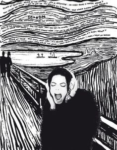Gallery For > The Scream Edvard Munch Black And White Edvard Munch, Expressionist Artists, Michael Jackson Drawings, Artist, Music Artists, Pictures, Art Parody, Black And White, Music Art