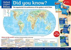 Download this free poster ideal for the ks3 geography classroom the equatorial circumference of the globe is 40 075 km oxford oxford studentworld mapsgeographyglobeballoon gumiabroncs Choice Image