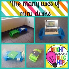 The many uses of mini desks- your new favourite classroom item! Who says you can't set things up the way you want when you're teaching from a cart? Be creative and flexible. check if any of these solutions work for the Primary/ junior sets you teach. Classroom Setting, Classroom Setup, Classroom Design, Kindergarten Classroom, Future Classroom, School Classroom, Classroom Environment, Classroom Resources, Organization And Management