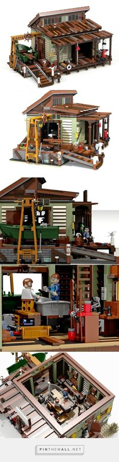 "LEGO Ideas - Boat Repair Shop - created via <a href="""" rel=""nofollow""…"