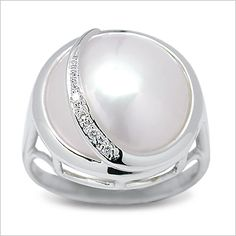 Mabe Pearl Ring set in White Gold Pearl Ring, Pearl Jewelry, Pearl Shop, White Gold, Jewels, Gemstones, Jewellery, Shopping, Accessories
