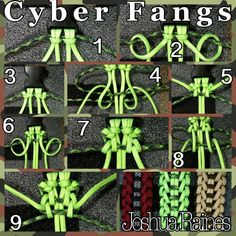 """This Is the picture tutorial for creating the paracord bracelet """"The Cyber Fangs"""""""