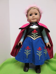 American Girl doll clothes Anna's Cape and Hat by Mimdoes on Etsy