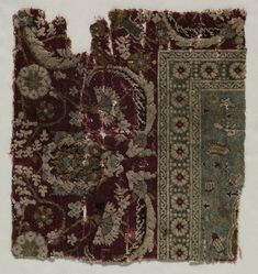 Turkey, Bursa or Istanbul, 16th century (?), senna knot: wool and silk, Average: 28.60 x 30.50 cm (11 1/4 x 12 inches). Purchase from the J. H. Wade Fund 1927.375