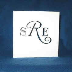 Personalized Monogram Card, Personalized Stationery, Hand Cut Card    This card has many uses, such as stationery, thank you cards or gifts