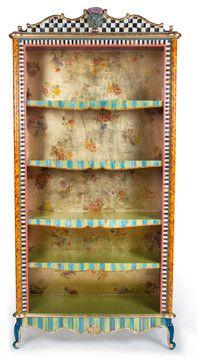 mckenzie childs furniture images | Arlecchino Bookcase | MacKenzie-Childs eclectic furniture