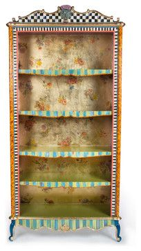 mckenzie childs furniture images   Arlecchino Bookcase   MacKenzie-Childs eclectic furniture