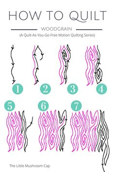 How to free motion quilt woodgrain motif
