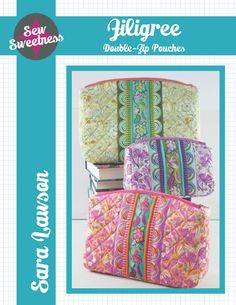 Sew Sweetness Filigree Double-Zip Pouches sewing pattern