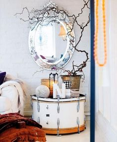 A drum table-- I'm definitely making this for @Crystal Padilla