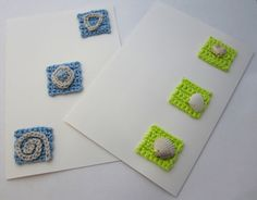 Karten mit Häkelinchies - Cards crocheted inchies