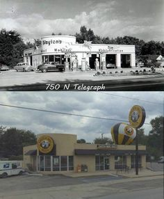 The old Mobil station in Dearborn...